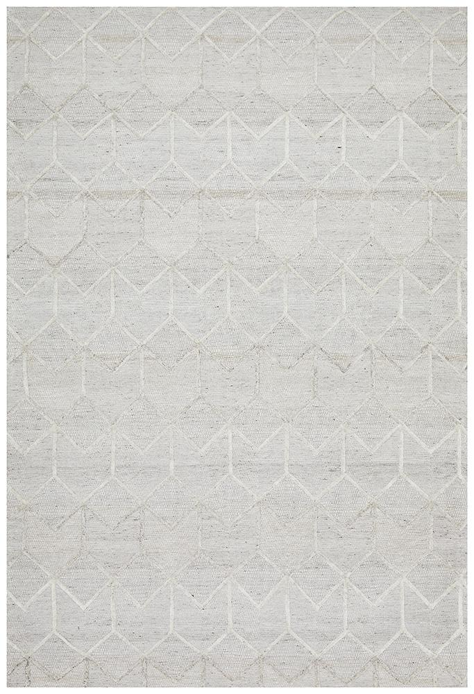 DOLLY Winter Grey Brush Modern Rug