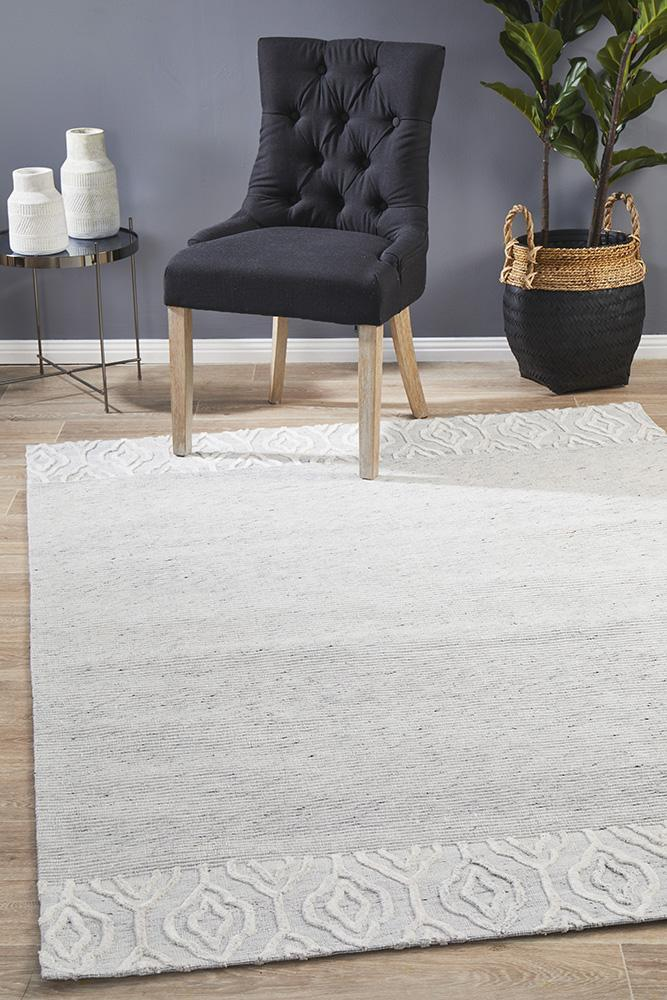 Havana Wool & Silky Viscose Dark Grey Rug
