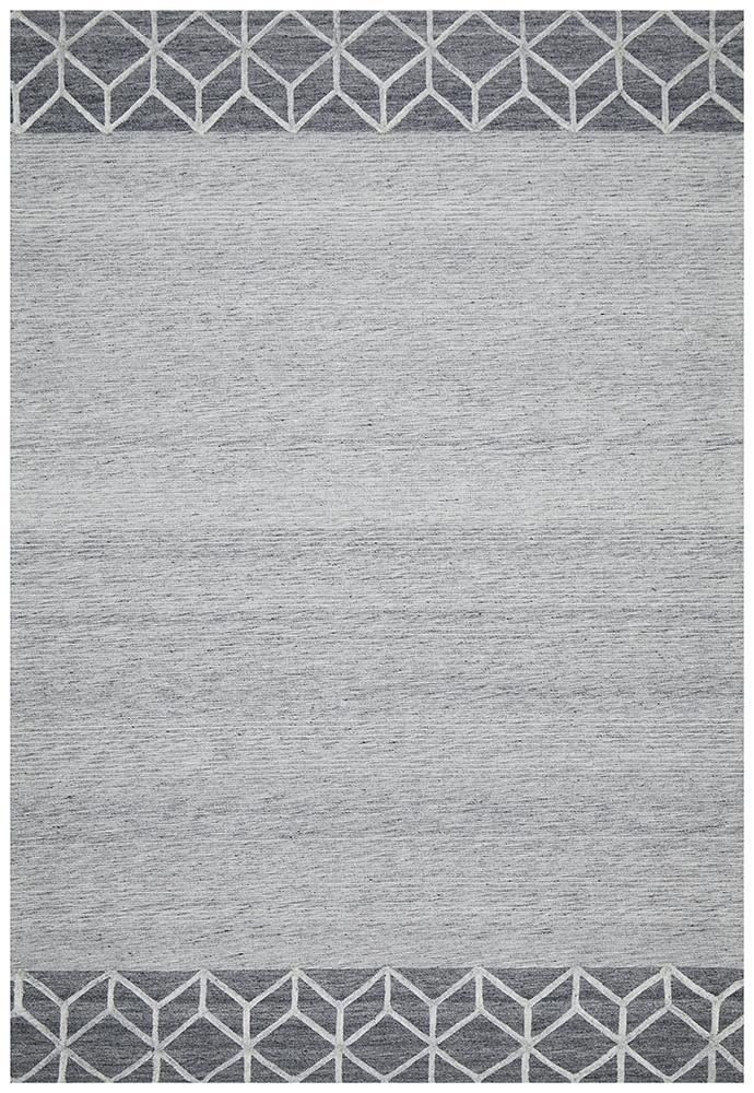 DOLLY Winter Grey Pulse Modern Rug