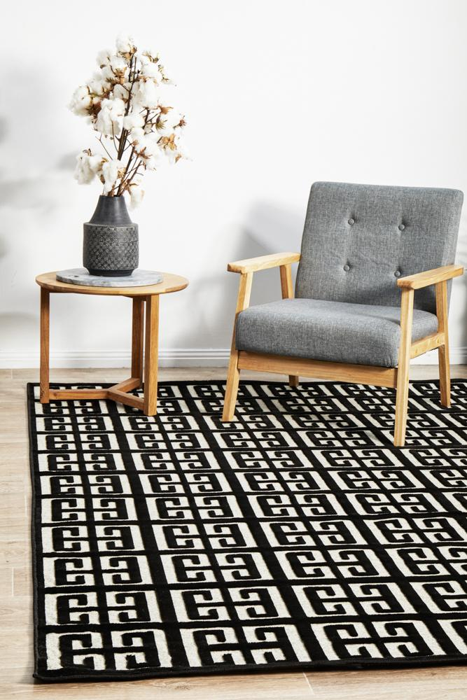 CITY Brenda Black & Gold Rug