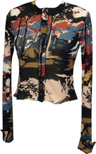 Load image into Gallery viewer, Eclipse Long Sleeve Cropped Cardigan