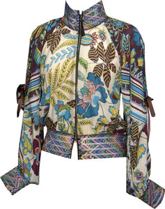 Floral Composition Bomber Jacket