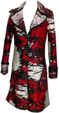 Load image into Gallery viewer, Reversable Jaquard Coat With Braided Trim & Embroidery Buttoms