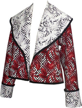 Load image into Gallery viewer, Reversible Shawl Collar Cropped Jacket - Petit Pois by Viviana G
