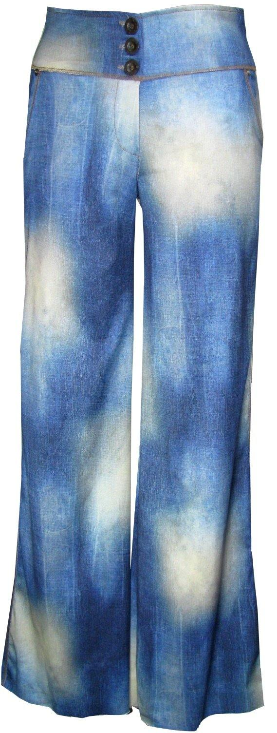 Stretch Denim Hipster Pants