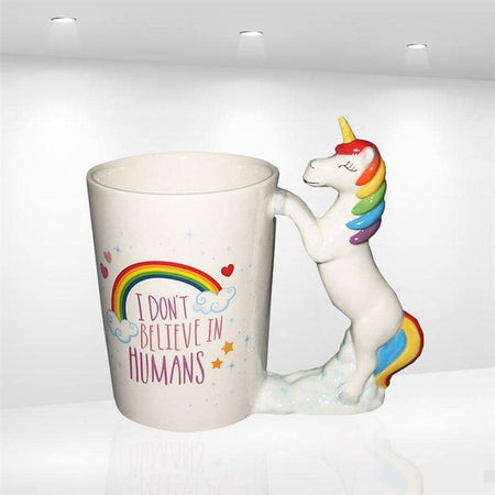 I Don't Believe In Humans Unicorn Coffee Mug
