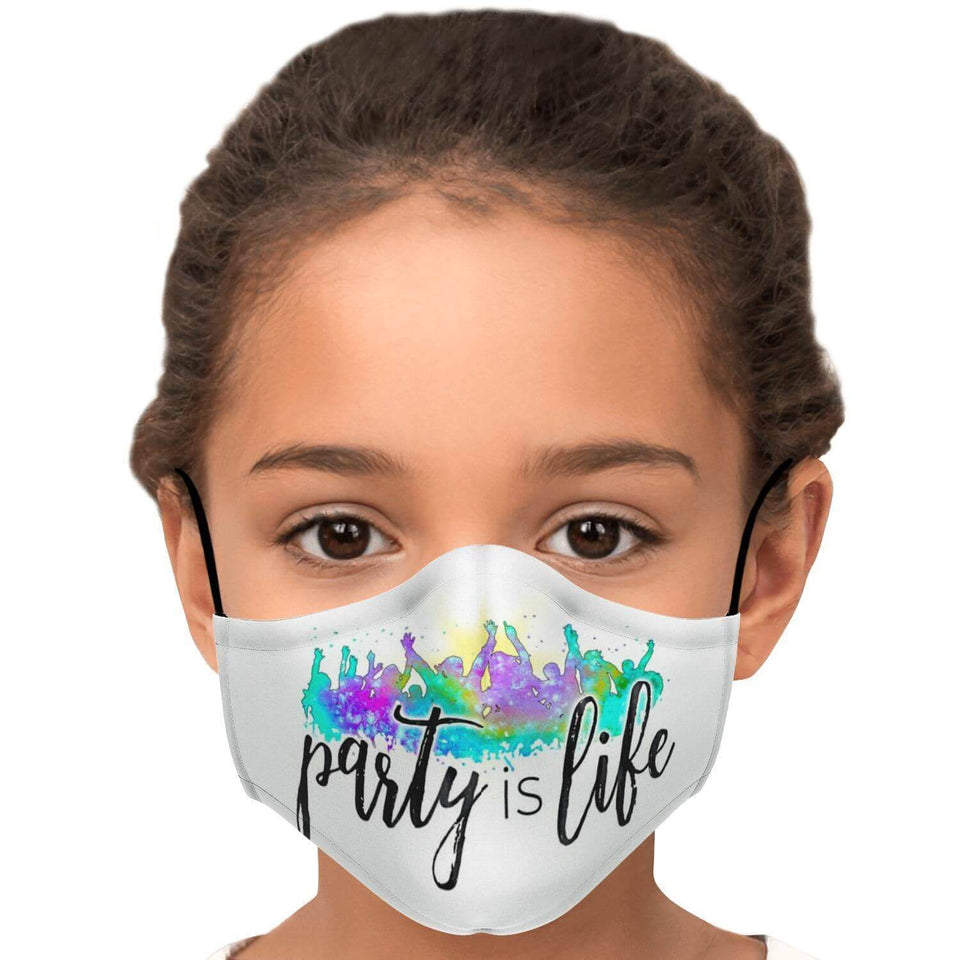 Party is Life Printed Face Mask