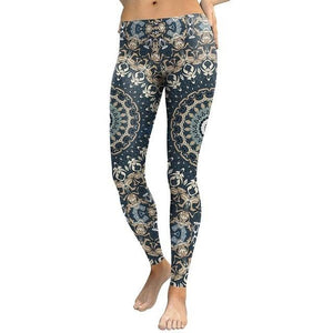 Blue Mandala Leggings - Party is Life