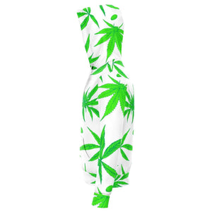 Ganja Leaf White Hoodie - Party is Life