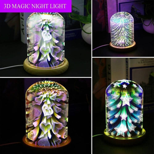 3D Glass Covered LED Lamp - Party is Life