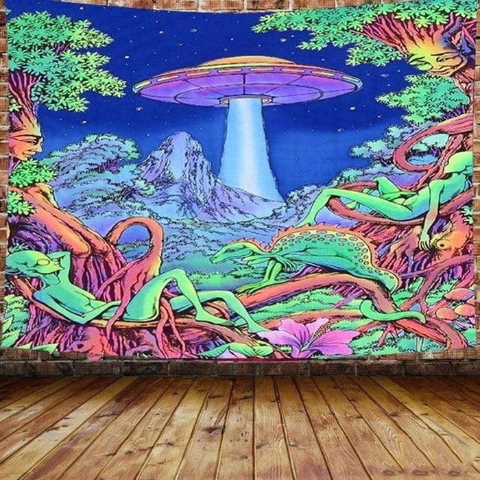UFO Chill Forest Tapestry