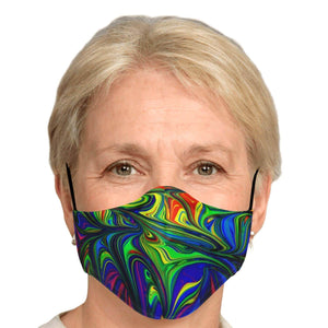 Abstract Colors Printed Face Mask