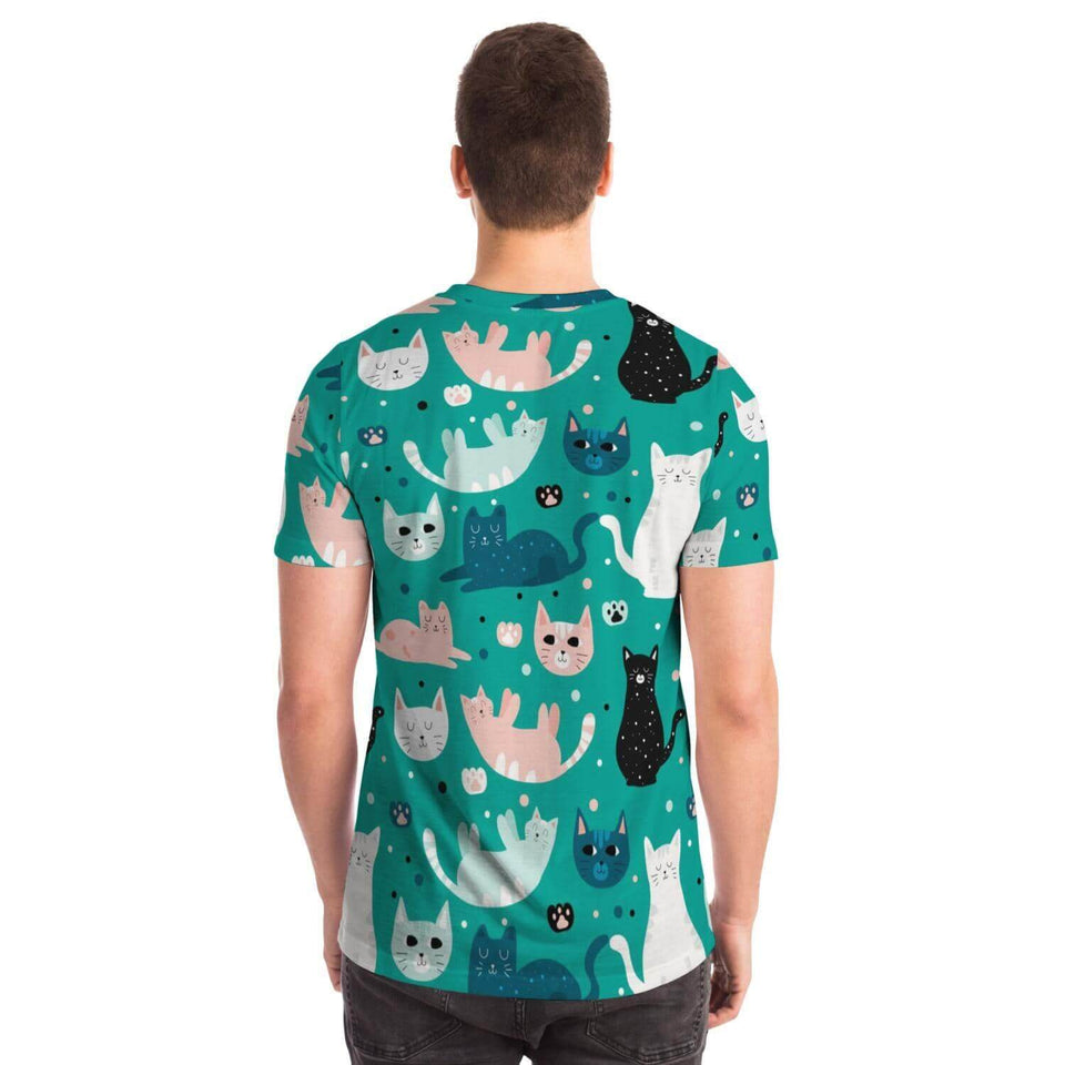Green Cat Shirt - Party is Life