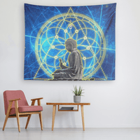 Glowing Buddha Tapestry