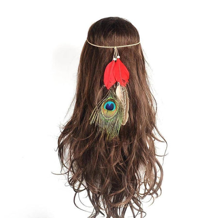 Peacock Feather Headband - Party is Life