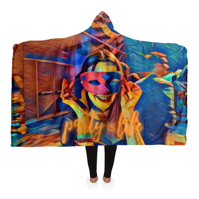 Masked Girl Hooded Blanket