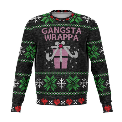Black & Pink Gangsta Wrappa Ugly Christmas Sweater