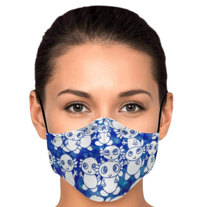 Blue Axolitl Party Printed Face Mask