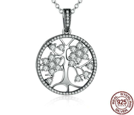 925 Sterling Silver Tree of Life Pendant Necklaces