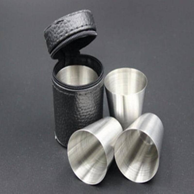 Stainless Steel Shot Glasses 4 Pieces