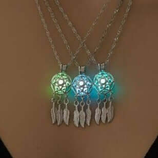 Dream Catcher Glow in the Dark Luminous Pendant Necklace
