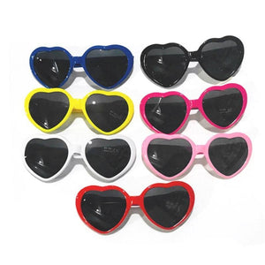 Smoked Lensed Heart Diffraction Glasses