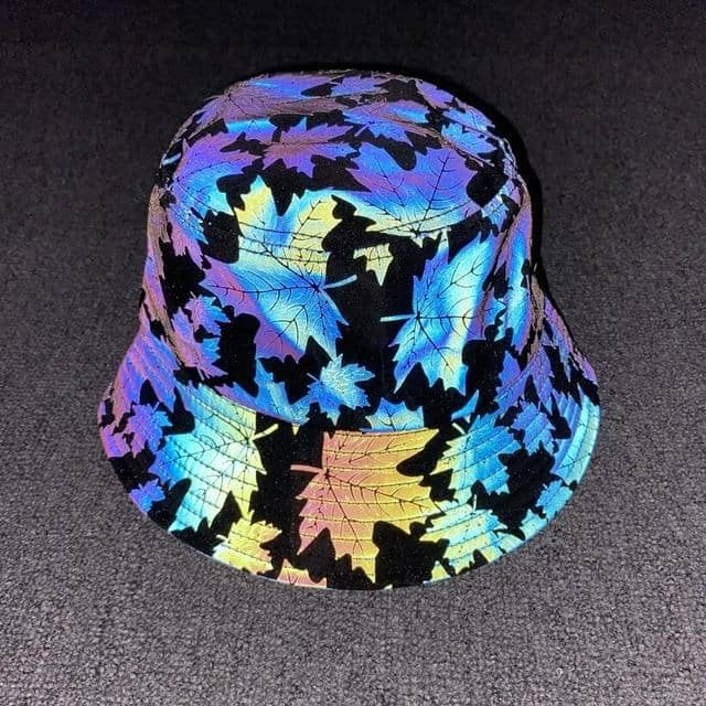 Reflective Maple Leaf Bucket Hat