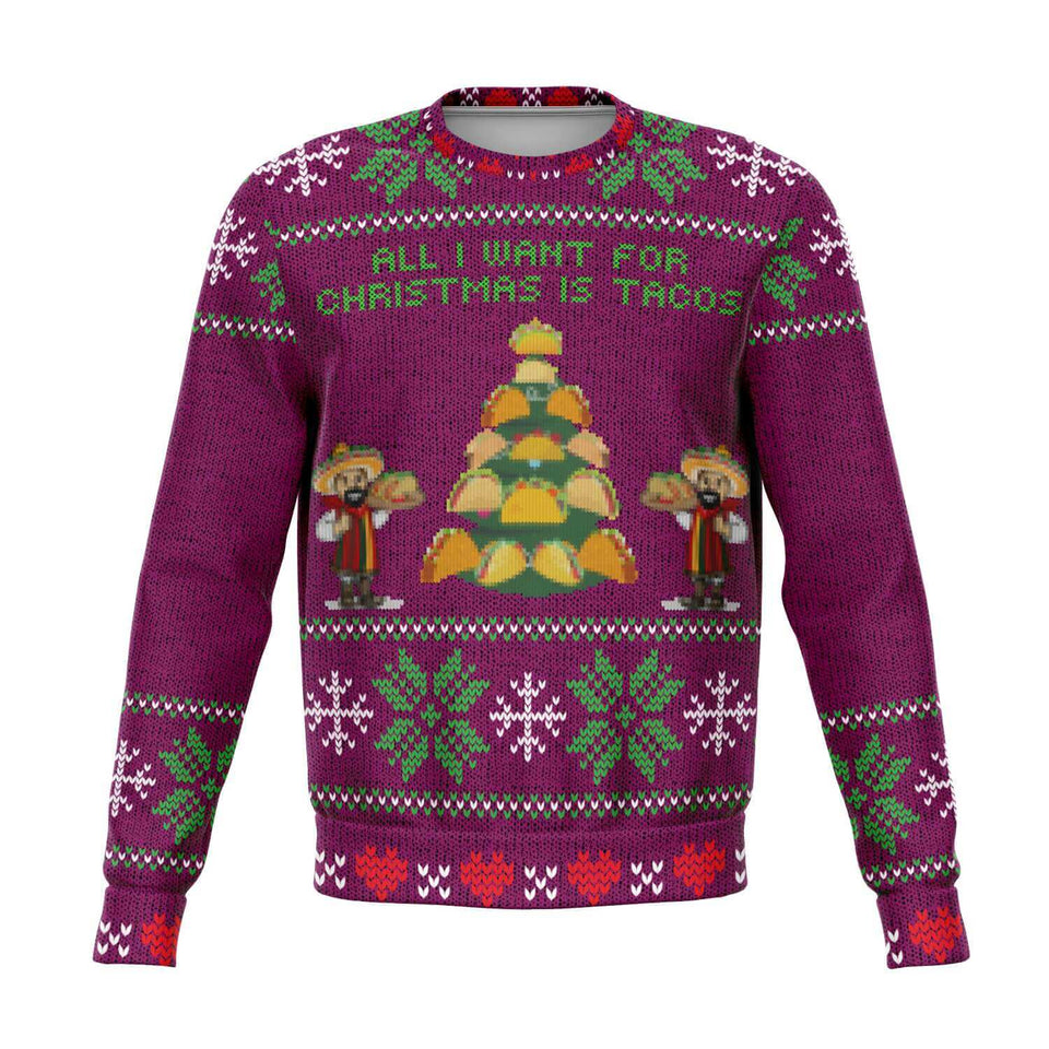 'A Taco Christmas' Ugly Christmas Sweater