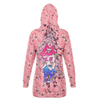 Women's Cherry Blossom Samurai Longline Hoodie - Party is Life