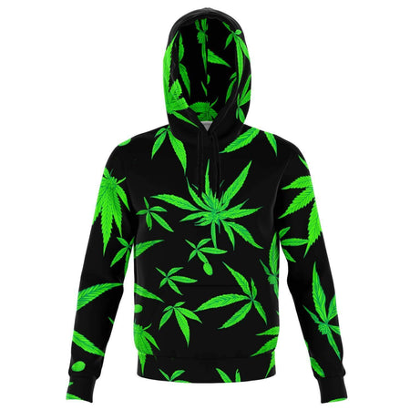 GANJA LEAF BLACK HOODIE - Party is Life