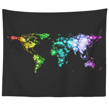Rainbow World Tapestry