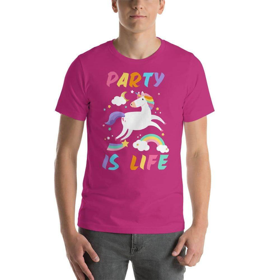 Rainbow Unicorn Unisex T-Shirt - Party is Life