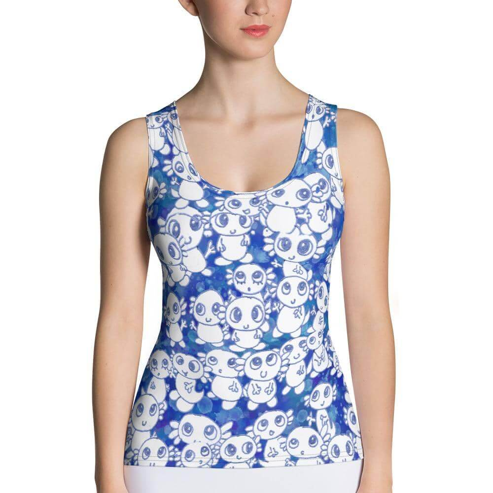 Blue Axolitl Party Tank Top - Party is Life