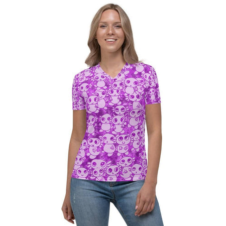 Women's V-neck Party Axolitl Shirt
