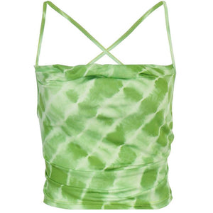 Tie Dye Backless Bandage Top
