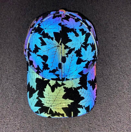 Reflective Maple Leaf Baseball Cap