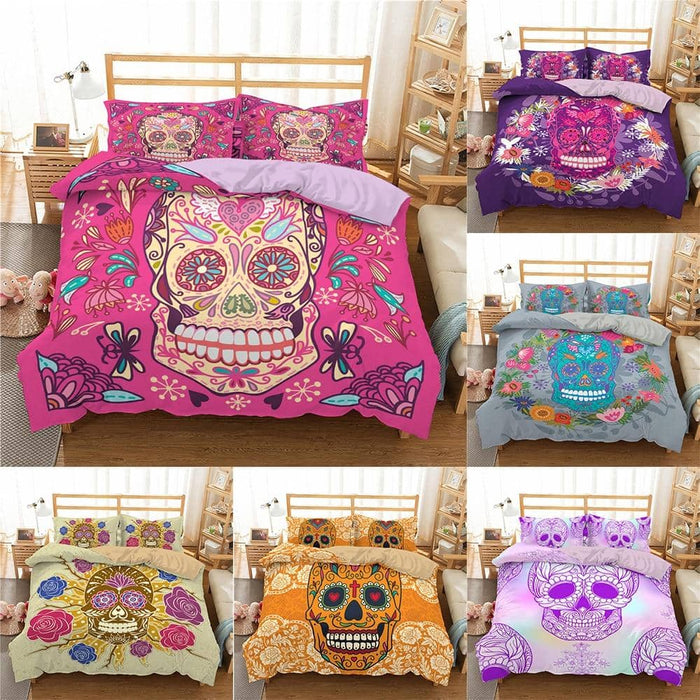 Sugar Skull Duvet Set 2/3pcs