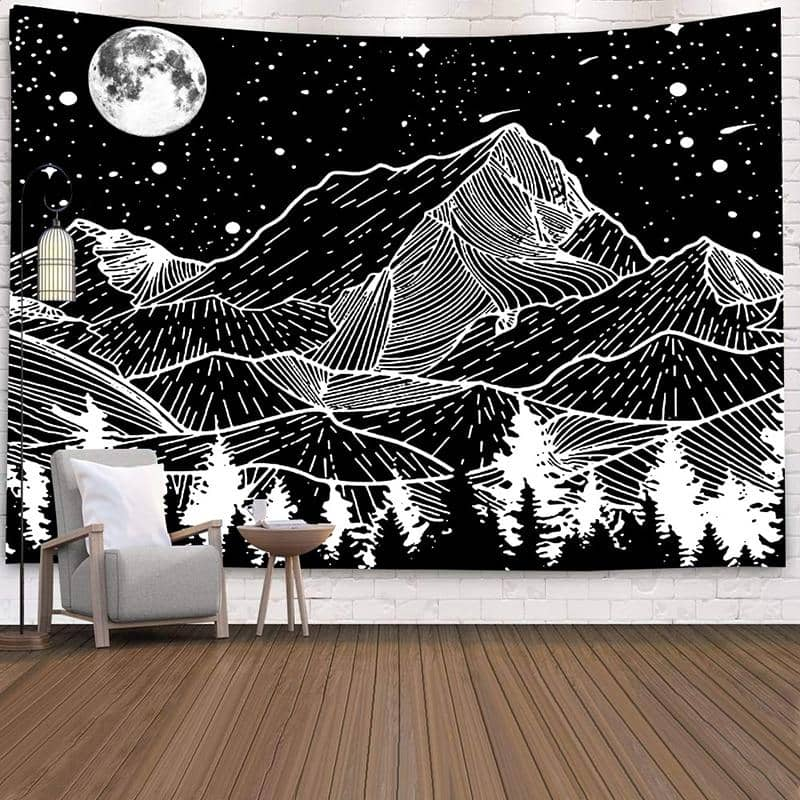Black & White Mountain Stars