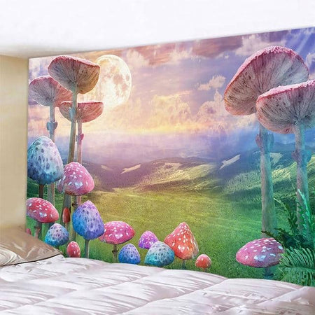 Grass Valley with Mushrooms Tapestry