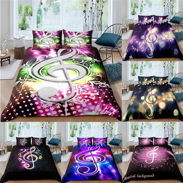 Musical Notes Duvet 2/3Pcs Set