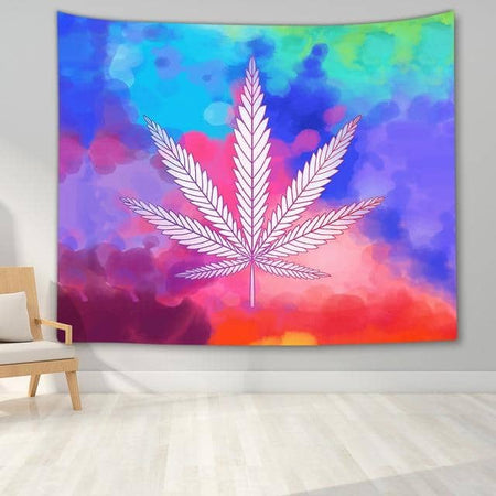 Watercolor Marijuana Tapestry