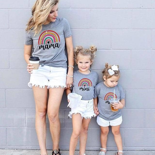 Cute Matching Mama Mini Mother & Daughter Shirts
