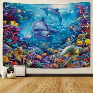 Under The Sea Dolphin Tapestry