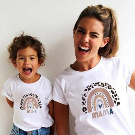 Cute Matching Mother & Daughter Shirt