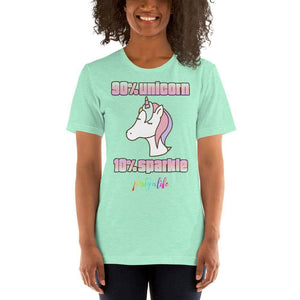 90% Unicorn, 10% Sparkle Unisex T-Shirt