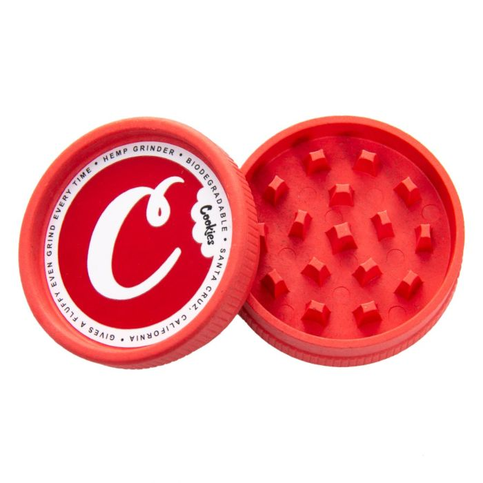 Santa Cruz Shredder x Cookies Hemp Grinder - Red