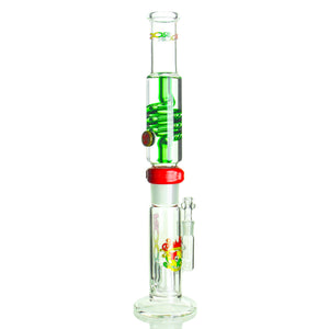 Illadelph Glass x RooR Tech collaboration - Glycerin Coil Straight - Rasta