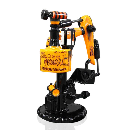 Lord glass Zach P glass - orange and black Excavator Set rig