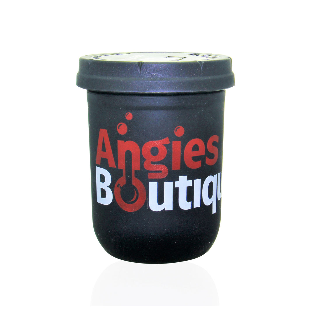 16oz Angies Boutique Re-Stash Jar - Black
