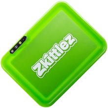 Load image into Gallery viewer, Glow Tray x Zkittlez Rolling Tray - Green